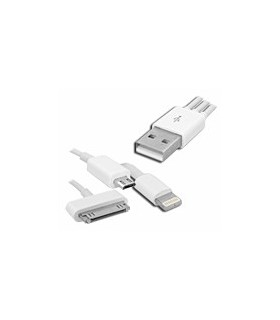 "USB kabelis - ""iPhone 5/6"", ""iPad microUSB 3in1"