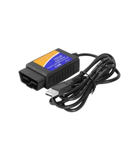 AUTOMOBILIO USB DIAGNOSTINIS SKENERIS ELM327 OBD2